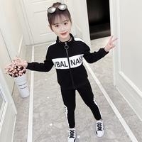 На девочку Весна 2019 новая коллекция комплект корейская версия Приливная одежда популярный Иностранный газ детское Весенняя мода детские два наборы