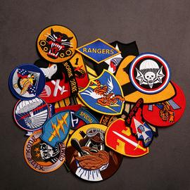 二战军事臂章军迷战术刺绣飞行夹克章魔术贴士气肩章WWII贴章图片
