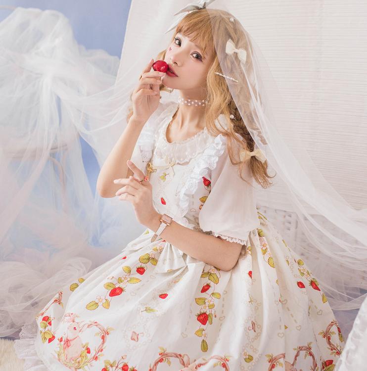 [Koi dress hall] original Lolita Sax color of raspberry rabbit