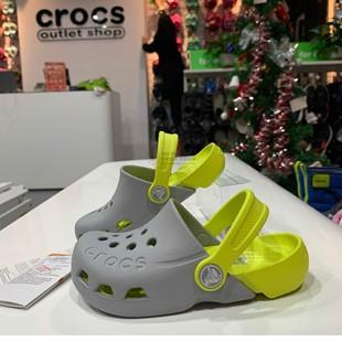 Crocs洞洞鞋兒童鞋涼鞋 卡駱馳包頭防滑男童鞋女童鞋沙灘鞋|10400