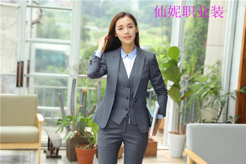 Xianni dress spring and autumn new small suit womens suit Korean leisure professional temperament stripe fashion coat 989#