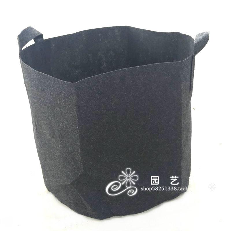 美植袋绿植袋植树袋 无纺布黑色 种植袋育苗袋营养钵控根花盆环保 Изображение 1
