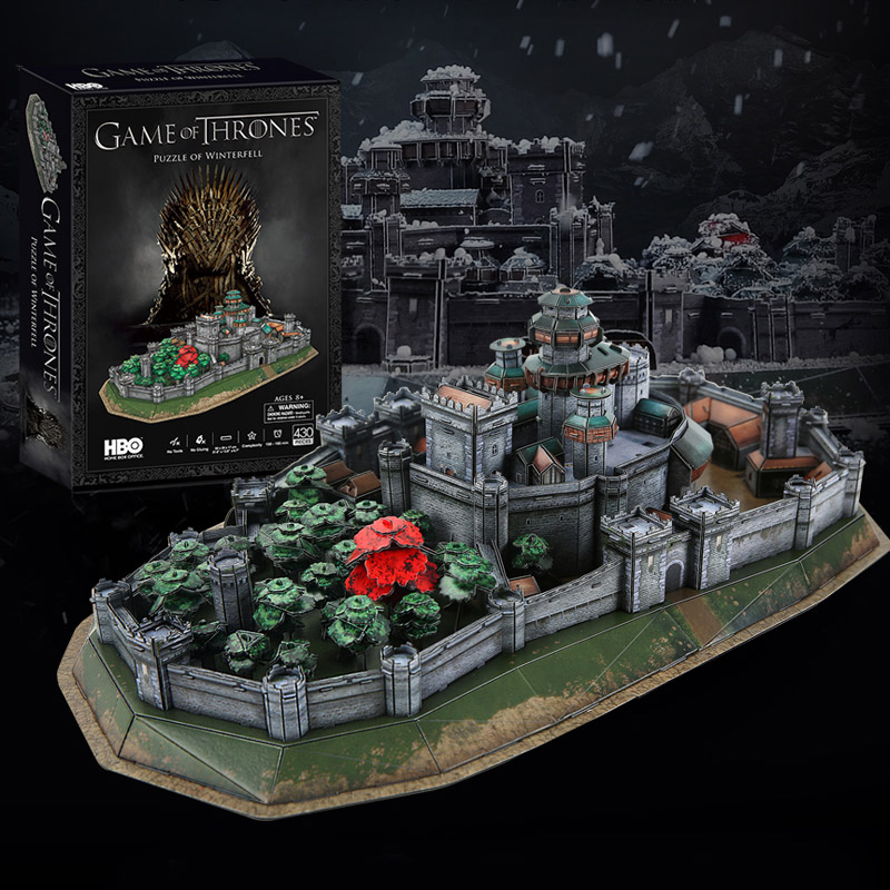 Game of Thrones Ice and Fire Song around Game of Thrones Music Cube 3D stereoscopic puzzle pro-Winter City