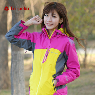 Tripolar three pole outdoor winter warm waterproof jacket containing end Fleece women explosion models