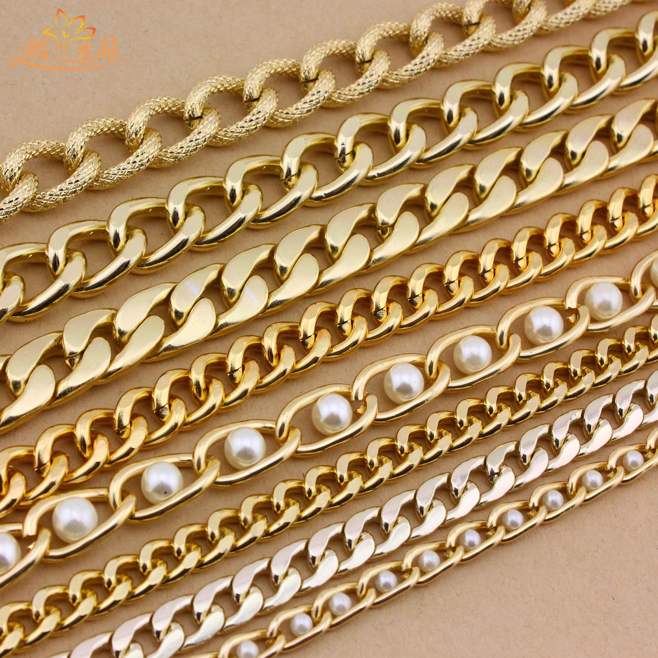 Ян LAN DIY аксессуары алюминиевого сплава цепи цепи цепи мешок цепочки Серебряные цепи украшения цепь шкафута
