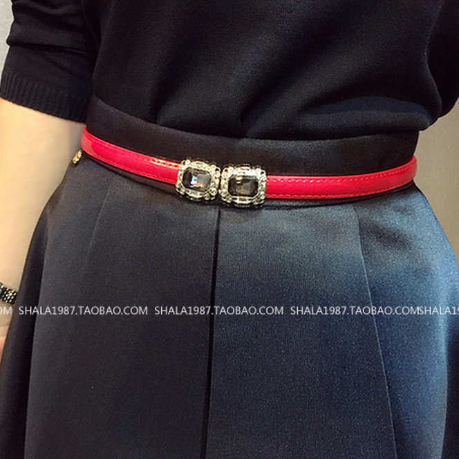 New special belt womens decoration simple fashion dress Rhinestone inlay adjustment skirt belt package fashion