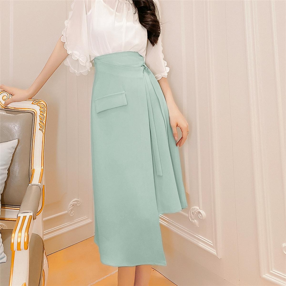 半身裙女夏设计感小众中长款2020夏季新款高腰a字显瘦百搭裙子
