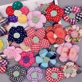 胸花胸针配饰韩国手工布艺花朵儿童可爱毛衣外套包包别针森系女孩