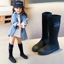 过膝袜靴 儿童针织弹力靴女童靴子春秋单靴2019新款 高筒长靴公主鞋