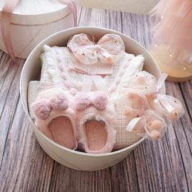 百天婴儿衣服满月礼盒公主裙春秋套装超洋气女宝宝周岁送礼高档图片