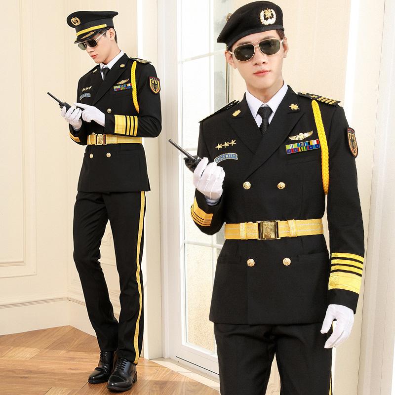 保安工作服秋装长袖保安岗亭形象岗男礼宾服套装保安制服春秋套装图片