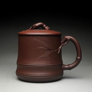 宜兴名家全手工 水杯 包邮 礼品茶杯 紫砂盖杯 竹节盖杯紫砂杯