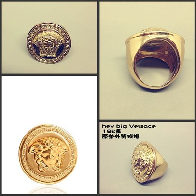Wholesale medusa ring super classic pictures of gold large