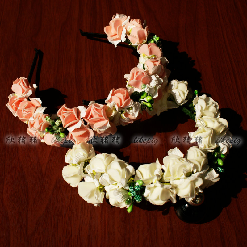 Детский день розетка оголовьем цветок тур Автопортрет фото подружек невесты невесты девушки цветка тиаре моделирование элементов Оптовая