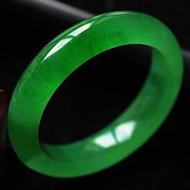 高档缅甸绿色玉镯子女少女玉手镯冰种天然玉石手镯正品绿圆条玉镯