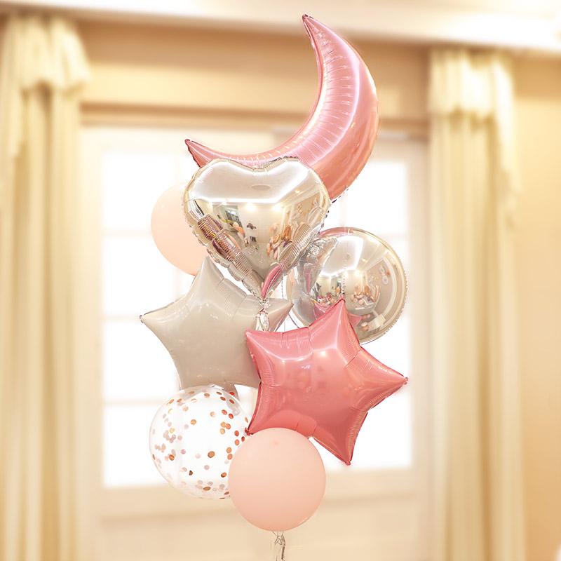 网红结婚气球婚庆儿童卡通派对生日女方场景婚房装饰布置套餐套装