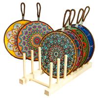 餐桌垫家用碗垫双层软木隔热垫砂锅垫陶瓷餐盘垫防烫北欧风情餐垫