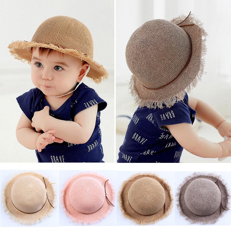 6-12个月7宝宝夏季8透气网眼9遮阳盆帽婴儿可折叠草帽凉帽渔夫帽
