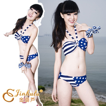 Golden gourd brand new listed stripe with little design sexy bikini