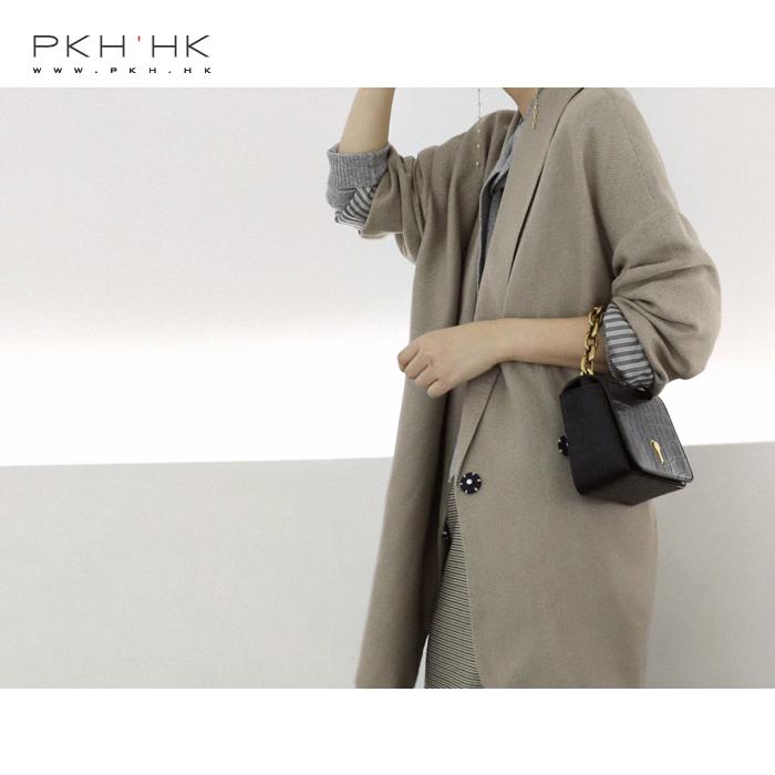 PKH.HK 特 秋季新品 时髦慵懒 别具一格的宽松廓形两粒扣西装