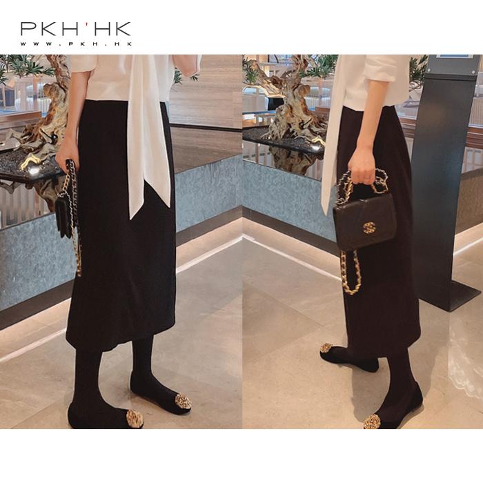 PKH.HK秋新品BI入打CALL面料搭配了N套经典小A直筒肌理质感半裙