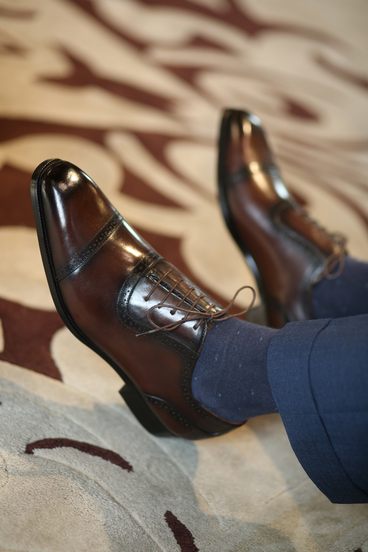 想法穿搭袁先生 | 2021年新款男士意式复古牛津鞋