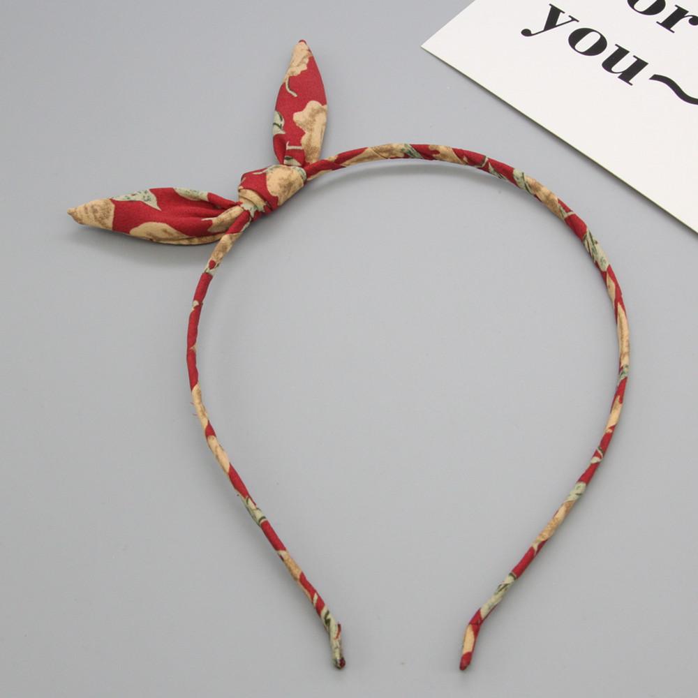 【新色】柠檬美伊新款甜美俏皮可爱碎花小兔耳朵发箍发卡头箍压发