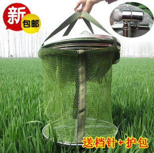 New 30 35 40 45 50CM diameter stainless steel double ring 2 4 5 6 meter rubberized anti hanging fish care