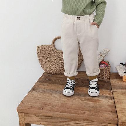 女童加绒加厚长裤外穿时尚图片