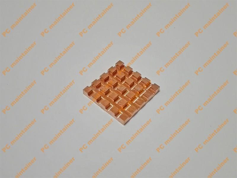 超薄破槽紫铜纯铜显存内存MOS散热片笔记本散热改造铜片17*17*2.0