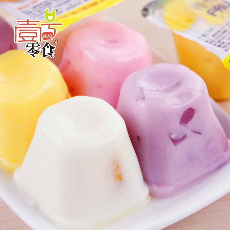 台湾特产盛香珍优酪果园果冻布丁500g 零食品喜糖糖果特产