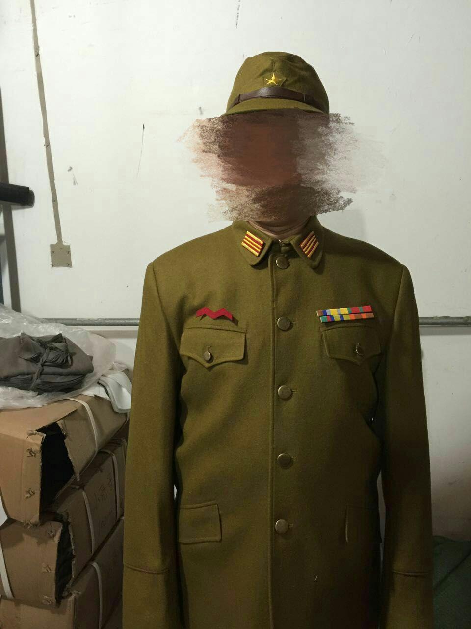 话剧团 影视剧组专用 日军服 戏服套装 呢料