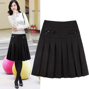 2015 new winter women skirts pleated skirt skirt boots winter woolen skirt big yards short skirts knee skirt