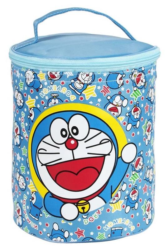 热卖的小学生圆形保温饭盒袋子加厚儿童装碗便当包卡通铝箔手提保