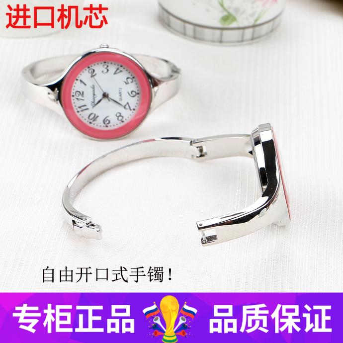 女士手链品牌新款女学生手镯式手表开口表韩版简约小清新百搭休闲