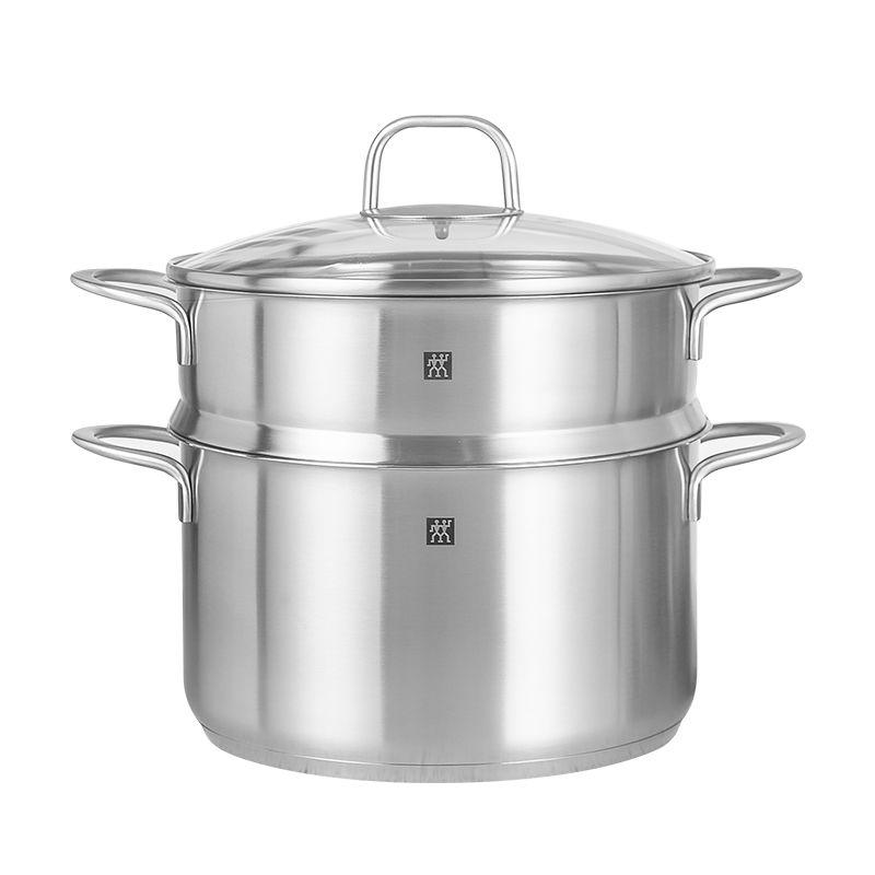 德国双立人24cm蒸笼不锈钢家用汤锅质量好不好