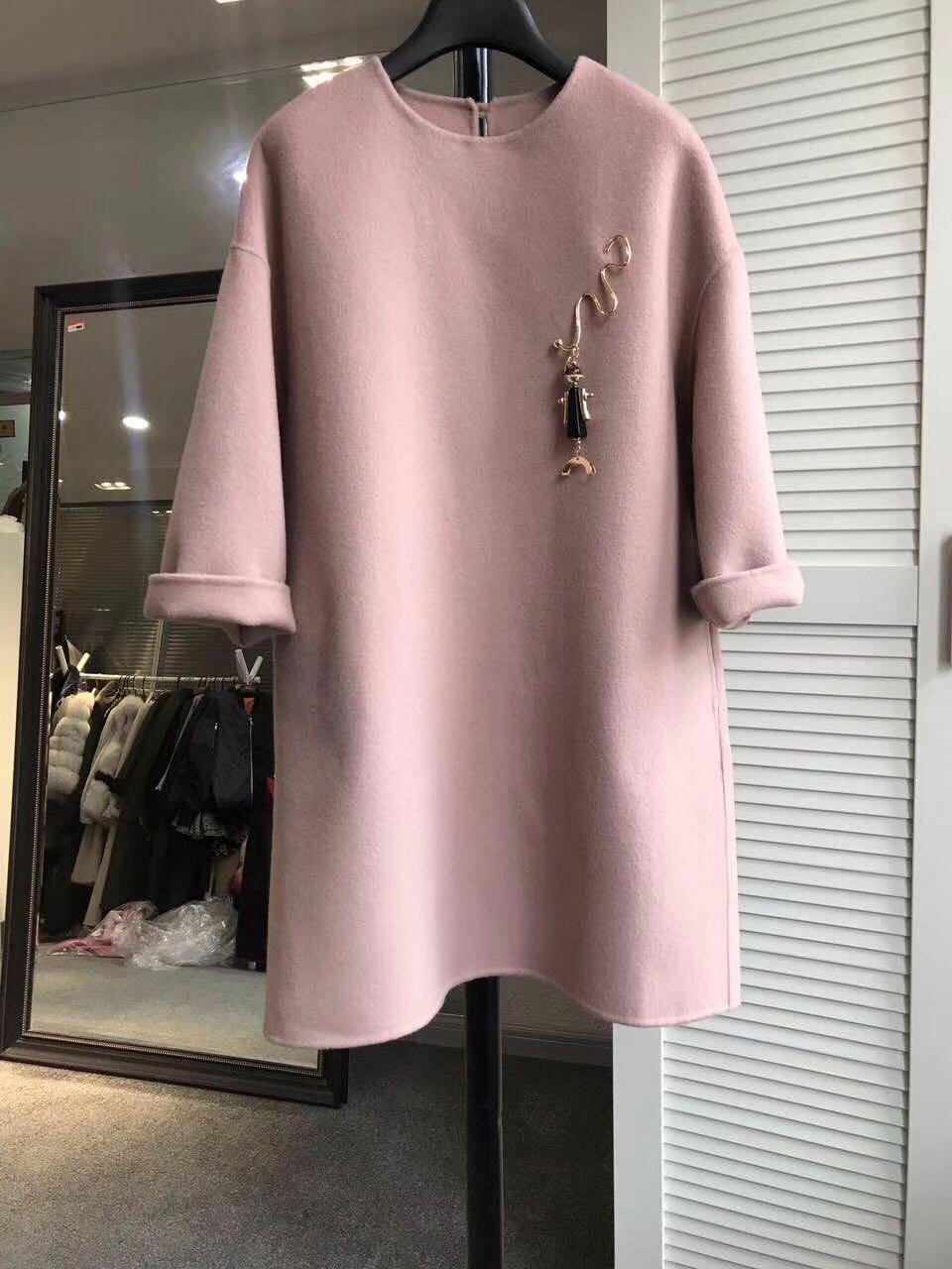 毛呢外套双面羊绒大衣女中长款2021春秋冬新款呢子羊毛秋季女修身