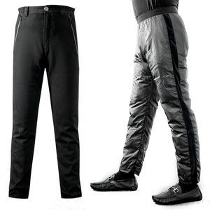 男装一裤三穿内胆可脱卸羽绒裤中老年大弹力直筒加厚保暖95鹅绒裤
