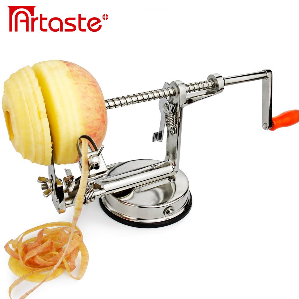 Очистите яблоки и нарежьте яблоко Apple Овощечистка плоды Овощечистка машина многофункциональный руки пилинг машины три в одном
