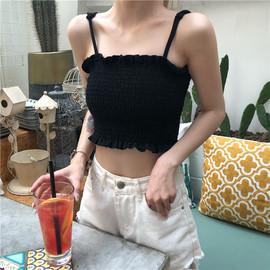 夏季韩版小吊带背心女学生宽松百搭外穿短款性感露背港味无袖上衣图片