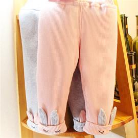女童加绒夹棉加厚打底裤婴儿外穿宝宝棉裤小女孩冬装可爱保暖裤子