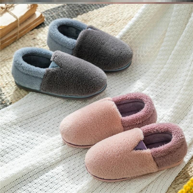 冬天穿的棉拖鞋男女过冬纯色产后脚跟情侣家居鞋2020年新款简单
