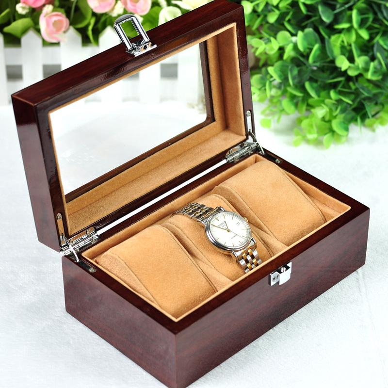 High-End фортепиано краска деревянные часы хранения коробки ювелирных поле смотреть поле отображения хранения коробки почта