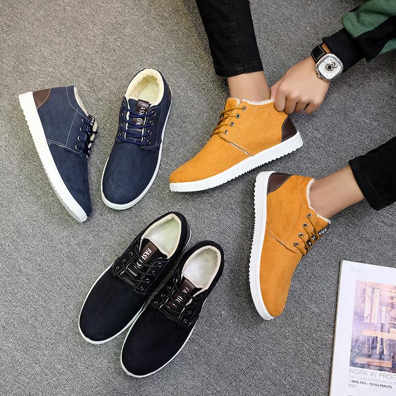 18年新款男棉鞋高帮布鞋运动休闲鞋冬季保暖雪地鞋防滑男鞋韩版潮