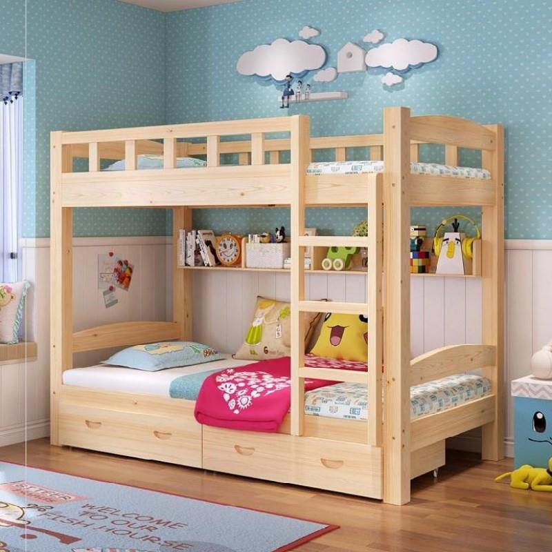 成年学生。儿童上下床双层床实木便宜的组合床一体式质量好成人