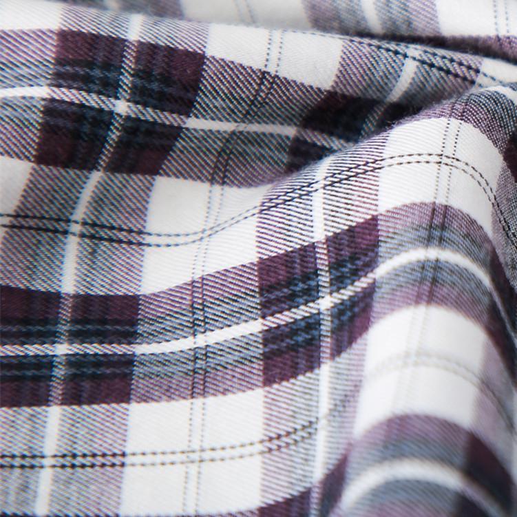 店主力荐 BERN 秋冬 微修身 85%棉15%羊毛 格子 长袖男衬衫衬衣