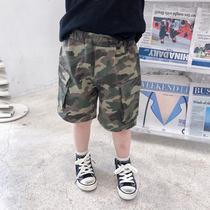 斑斑家男童迷彩短裤2020新款夏天儿童休闲裤男孩宝宝韩版洋气裤子