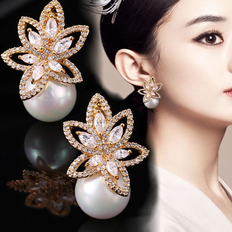 Cyndalen retro port style pearl earrings Korean temperament net red luxury Pearl Earrings 2020 new earrings