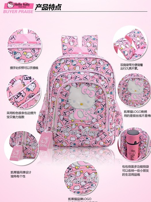 Foreign Trade authentic Kitty schoolbag / backpack / medium Backpack