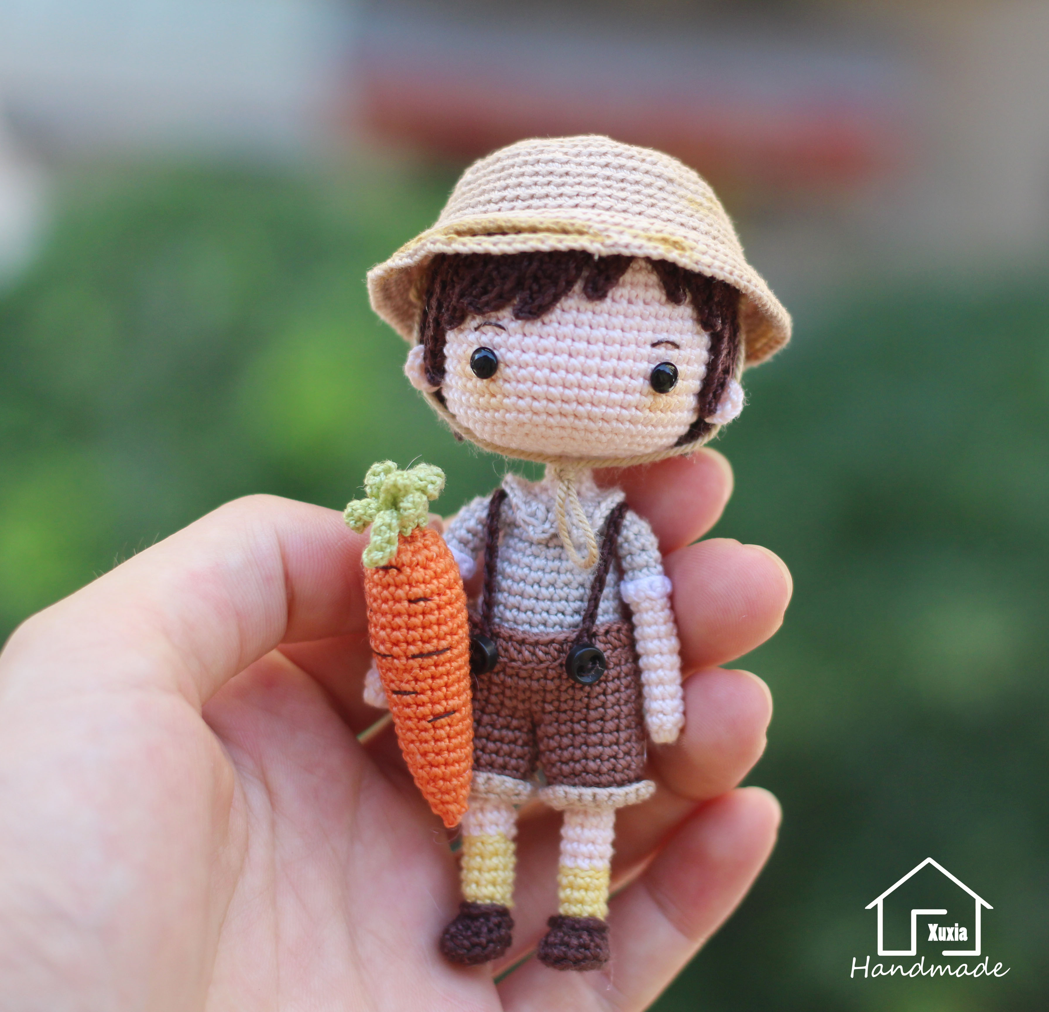 Маленький брат Сюй Ся оригинал версия Графический крючок стрелка вязанные Электронные чертежи кукол не закончены